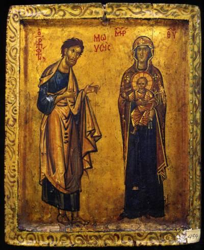 Пророк Моисей и Богоматерь с Младенцем