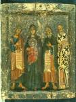 Богоматерь с Младенцем с пророками Моисеем и Илией и свт. Григорием Богословом