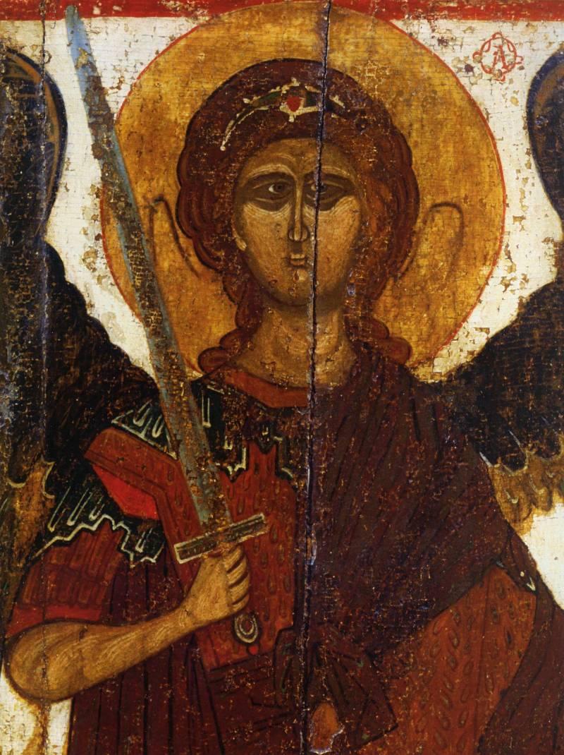 Полуфигура архангела