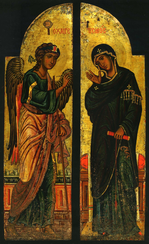 Царские врата с изображением Благовещения