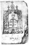 Схематическое изображение храма и царских врат