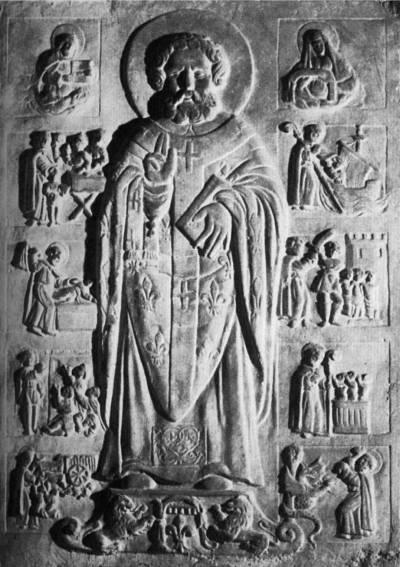 Святитель Николай Чудотворец, со сценами жития