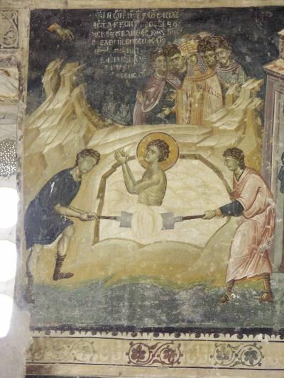 Мучение Георгия в яме с известью