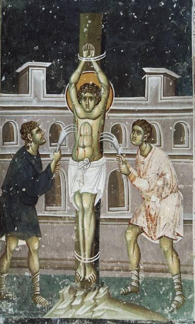 Мучение святого Георгия железными когтями