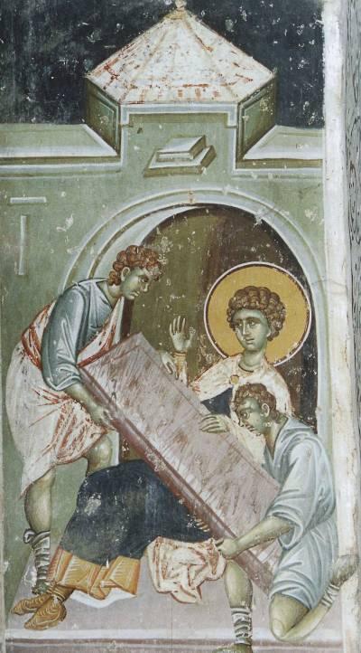 Мучение святого Георгия доской