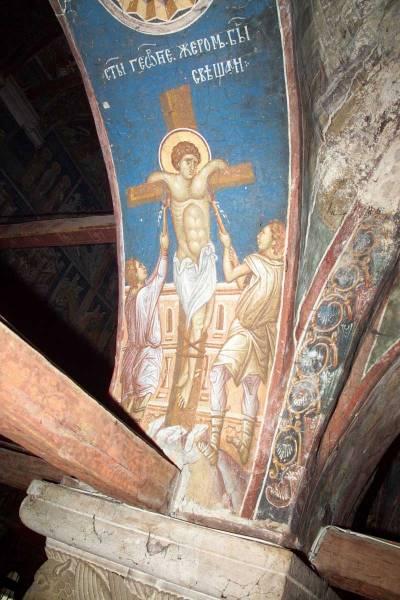 Святого Георгия жгут свечами