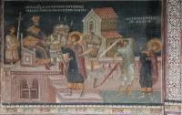 Святой Георгий перед царем Дадианом. Усекновение главы св. Георгия