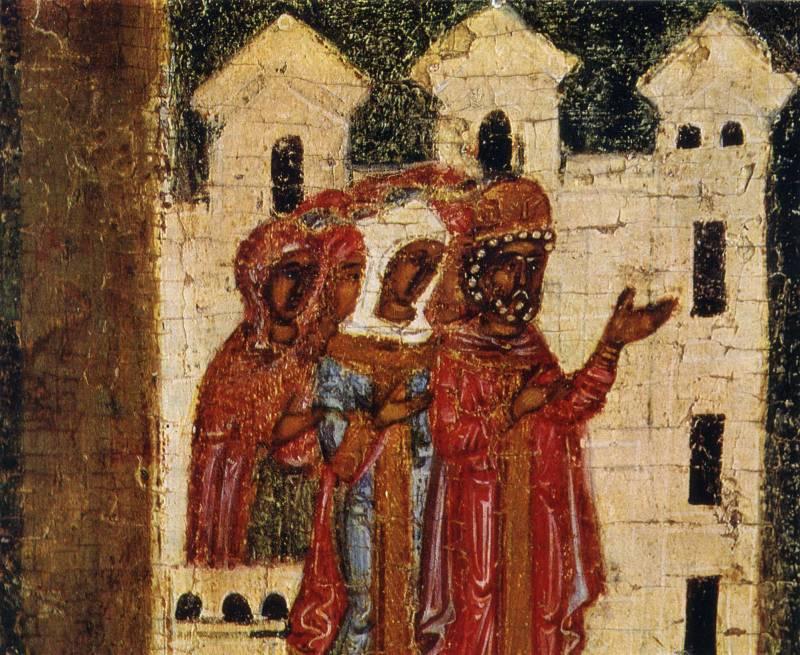 Царь, царица и народ приветствуют Георгия