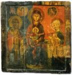 Богоматерь на престоле, со святым Николаем Чудотворцем и апостолом Климентом