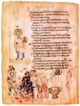 Патриарх Никифор с образом Христа. Собор иконоборцев