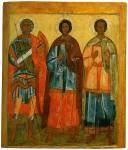 Святые мученики Андрей Стратилат, Флор и Лавр