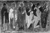 Симеон Богоприимец, Архангел Михаил, апостол Петр, Иоанн Богослов, Николай Чудотворец , Савва Освященный