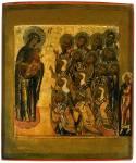 Богоматерь с Младенцем и предстоящими ростовскими чудотворцами