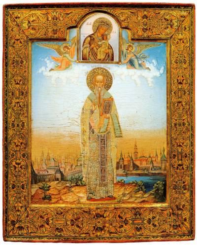 Святой Порфирий, архиепископ Газский и Межетский образ Богоматери