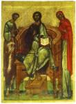 Спас на престоле с предстоящими Иоакимом и Анной