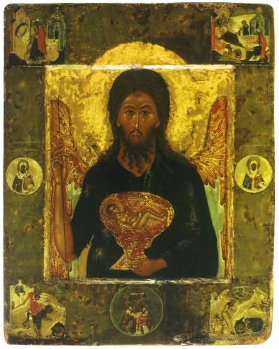 Иоанн Предтеча Ангел Пустыни со сценами жития и избранными святыми