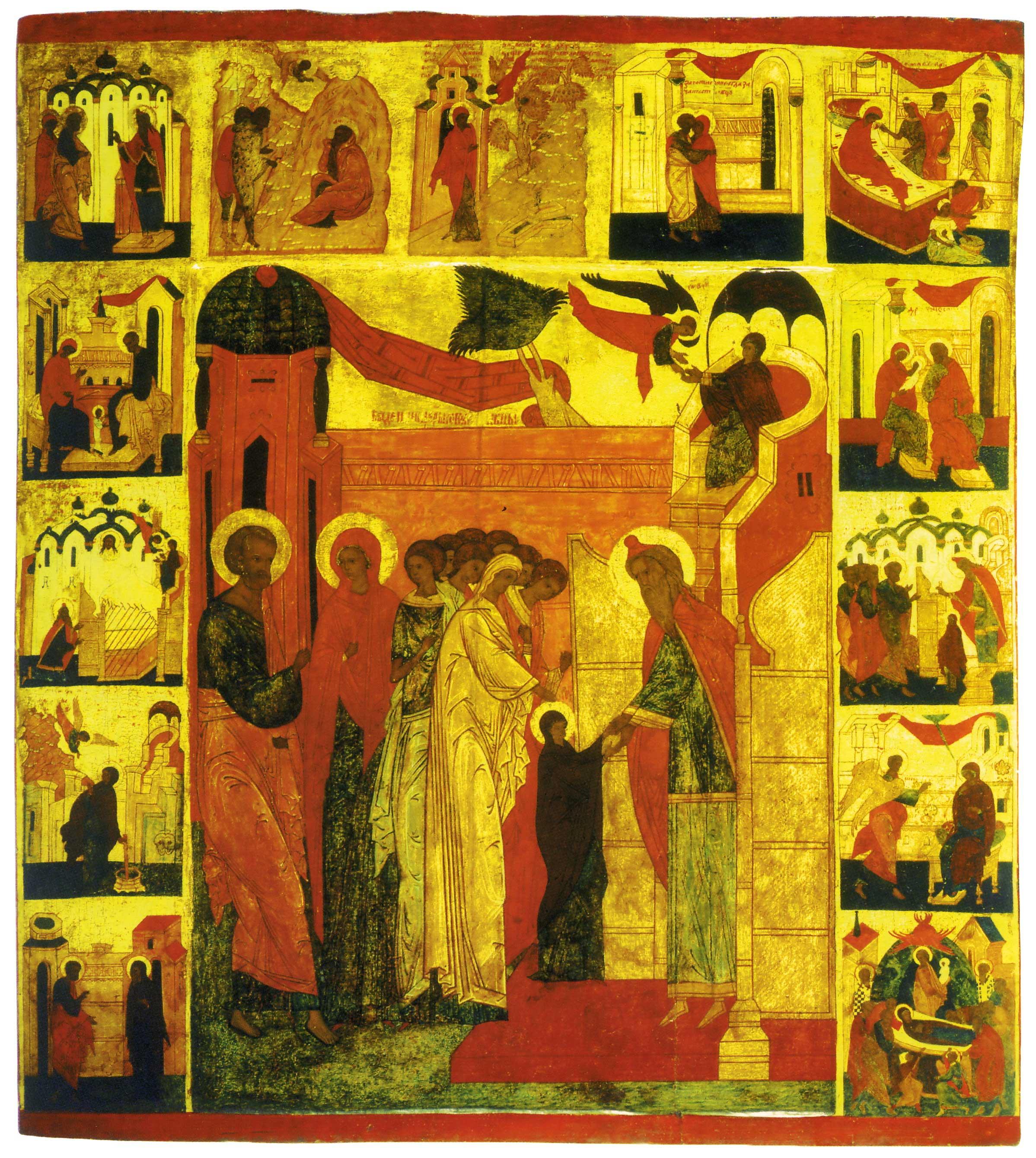 Введение во храм, с житием Богоматери, Иоакима и Анны