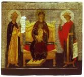 Богоматерь с Младенцем на престоле с предстоящими пророками Давидом и Соломоном