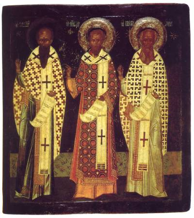 Василий Великий, Иоанн Златоуст, Григорий Богослов