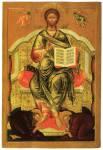 Спас на престоле с припадающими Зосимой и Савватием Соловецкими