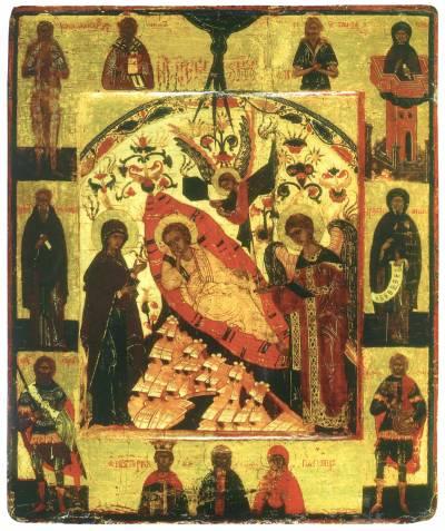Спас Недреманное Око, с избранными святыми