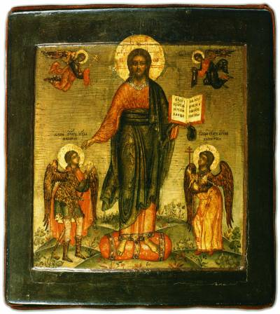 Спас Смоленский, с архангелом Михаилом и Ангелом-Хранителем