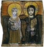 Христос и святой Мина