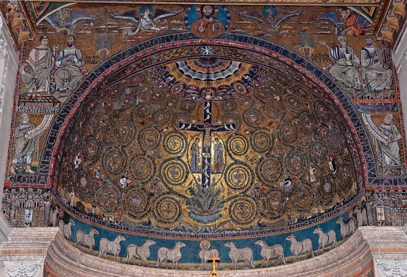 Мозаики апсиды и триумфальной арки