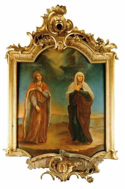 Царица Вирсавия и праведная Елисавета
