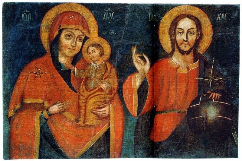 Черниговско-Ильинский образ Богоматери. Спас Вседержитель
