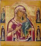 Толгская икона Богоматери, со святыми на полях