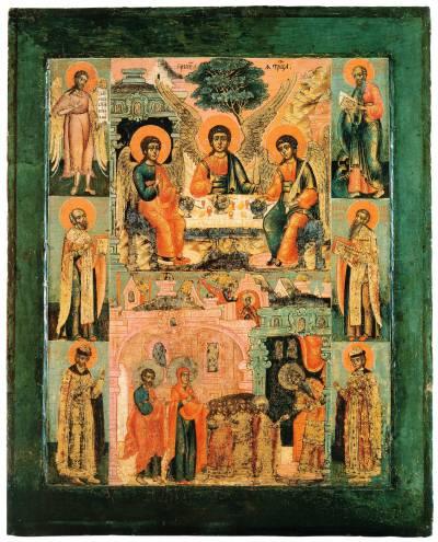 Троица Ветхозаветная. Введение Богородицы во храм. Избранные святые
