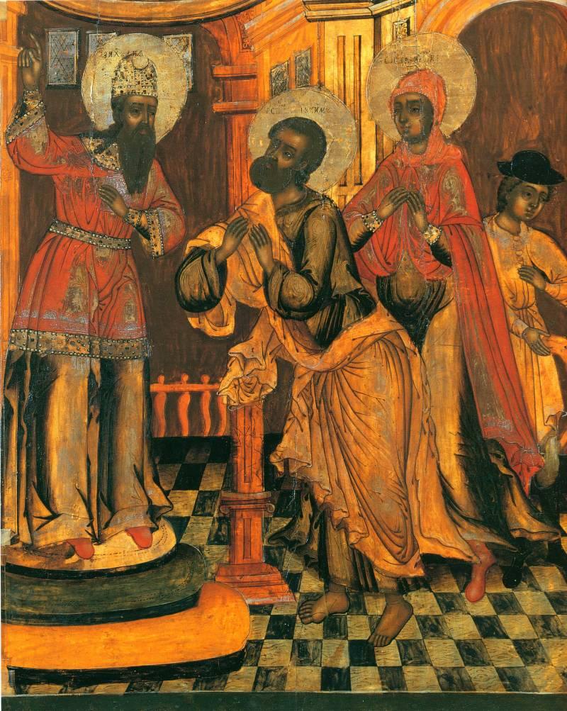 Отвержение даров Иоакима и Анны в храме