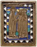 Преподобный Иоанн Лествичник с братией Синайского монастыря