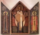 Святитель Николай (Можайский), в киоте, со створами