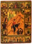 Усекновение главы Иоанна Предтечи, с житием и Феодоровским образом Богоматери с избранными святыми