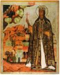 Великомученица Екатерина, со сценами жития