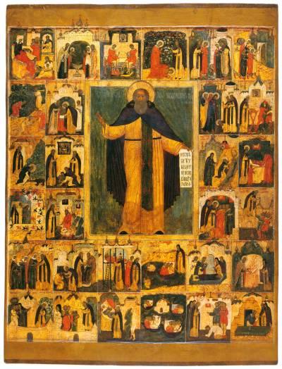 Преподобный Сергий Радонежский, с житием в 30 клеймах