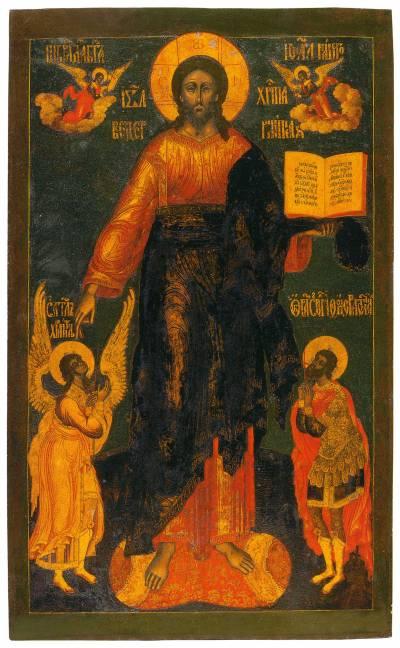 Спас Смоленский, с Ангелом-хранителем и великомучеником Феодором Стратилатом