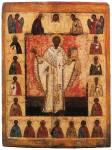 Святитель Николай Чудотворец (Никола Зарайский), с Деисусом и избранными святыми