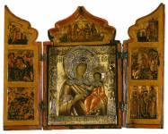 Складень-кузов с иконой Богоматери Одигитрии