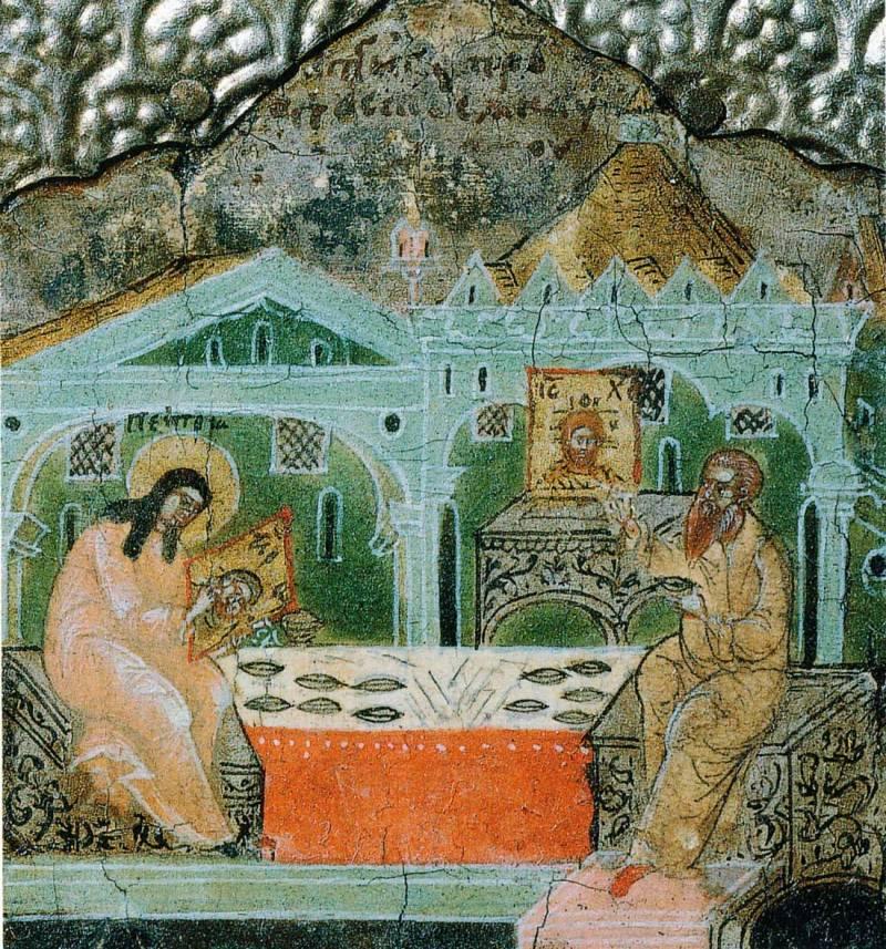 Петр занимается иконописью