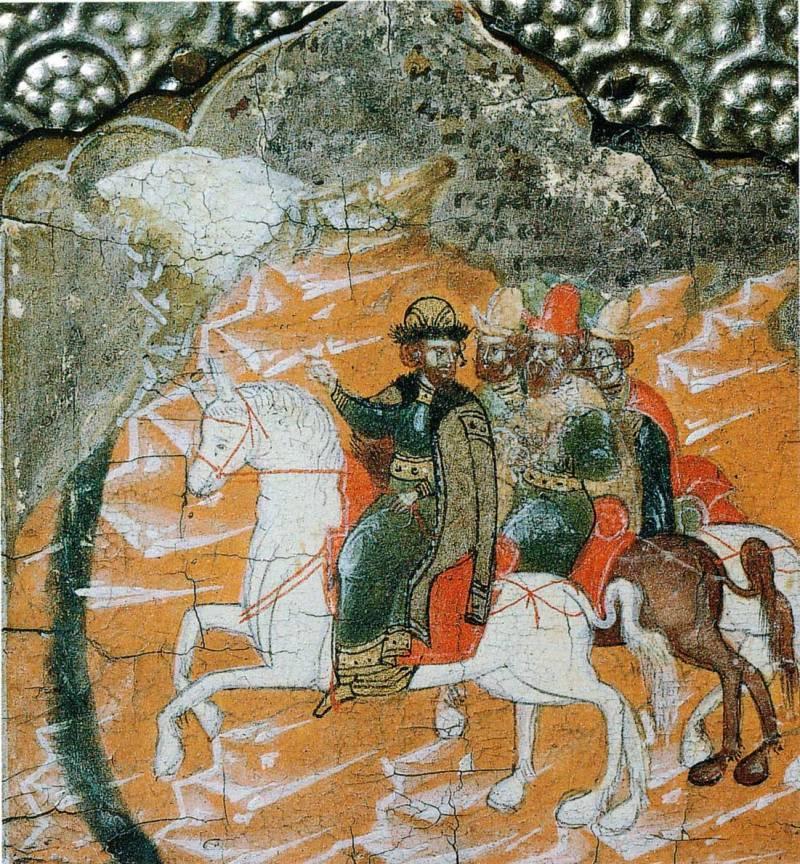 Великий князь Иван Данилович Калита видит себя во сне едущим перед высокой горой с тающим снегом