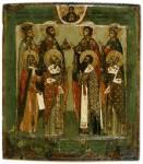 Избранные святые в молении образу Богоматери Воплощение
