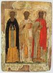 Святые Николай Чудотворец, Сергий Радонежский и великомученица Екатерина