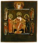 Предста Царица, с избранными святыми на полях