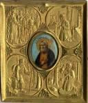 Преподобный Серафим Саровский, со сценами жития