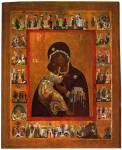 Владимирская икона Богоматери, с Акафистом