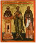 Преподобный Симеон Столпник, апостол Иоанн Богослов, преподобный Харитон Великий
