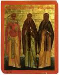 Преподобные Феодор Студит, Феодосий Великий и Ефрем Сирин